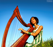 Sheela with harp