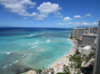 View from Aston Waikiki Beach Hotel Guestroom