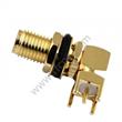 SMA female bulkhead right angle for PCB RF Connector