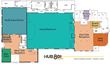 Hub 801 Events floor plan
