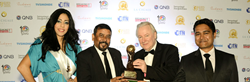 Maharajas' Express Team receiving the World's Leading Luxury Train Award, WTA 2013