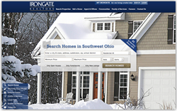 Irongate's new modern vertical scrolling home screen features centralized a quick search menu