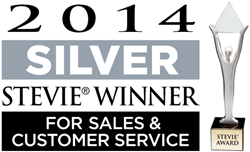 2014 Silver Stevie Award for Sales & Customer Service