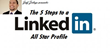 "Announcing ""The 5 Steps to a LinkedIn All-Star Profile"" Webinar"