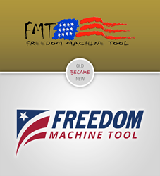 Freedom Machine Tool Rebrand Logo Comparison