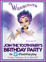 The Tooth Fairy is having a birthday party on Twitter--and you're invited!