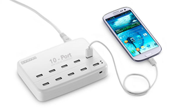 10 port charging station for mobile devices