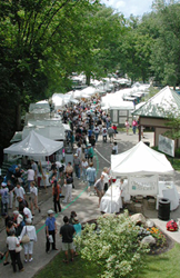 Cain Park Arts Festival view from above.