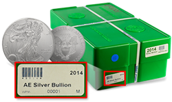 Box #00001 of 2014 American Silver Eagles