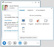 Microsoft Lync for screen, desktop, document sharing, and more