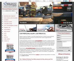 Personal injury website redesigned