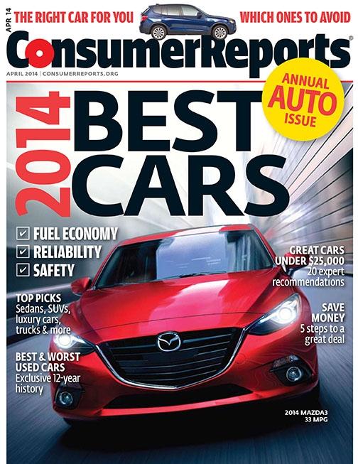 consumer reports 2014 car brand report cards. Black Bedroom Furniture Sets. Home Design Ideas