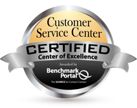 Certified Contact Center of Excellence by BenchmarkPortal