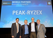 : (left to right) Chris Lonnett, VP, Global Channels & Sales Operations, Motorola Solutions; Richard Hudson, VP, Enterprise Channels, Motorola Solutions; Damian Penney, MD, Peak-Ryzex; Marco Lundi, VP