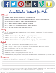 iMom Social Media Contract for Kids Printable