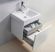 "Virtu USA 24"" Zuri - Gloss White - Single Sink Bathroom Vanity JS-50324-GW"