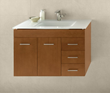 RonBow 011236-L Bella 36 Inch Wall Mount Vanity Cabinet with Hidden Drawer and Three Side Drawers