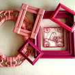 Hot Pink + Red Picture Frames