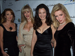 Jane Seymour, Daphna Ziman, Fran Drescher, and Donna Mills pose on the red carpet at a previous CUN's Annual Awards Celebration And Viewing Dinner Party