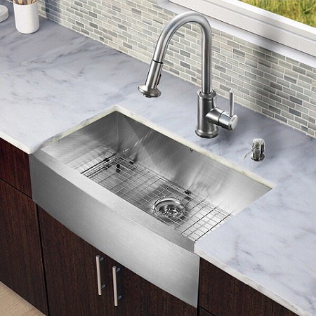 Six Inch Center Kitchen Faucet