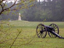 A photo of a Civil War battlefield in Louisiana
