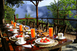 Open-Air Hummingbird Restaurant at San Jorge de Tandayapa Hummingbird Sanctuary