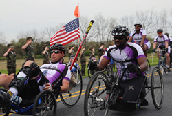 Walter Reed cyclists in the 2013 Face of America ride.