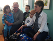 Charlie and his family wait for his daily proton beam therapy treatment.
