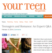 Your Teen Magazine for Parents Tackles Teen Romance Issues with New...