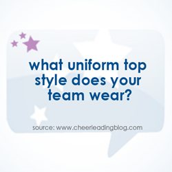 Cheerleading Blog's February poll focused on cheerleading uniform styles