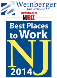 Weinberger Law Group Nominated Best Places to Work in New Jersey