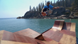 When professional skateboarder Bob Burnquist was asked to dream big in Lake Tahoe, a floating ramp and never-before attempt followed.