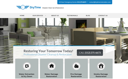 New Water Restoration Website For DryTime Inc.