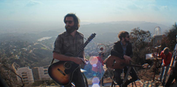 Band of Horses play Hollywood sign.