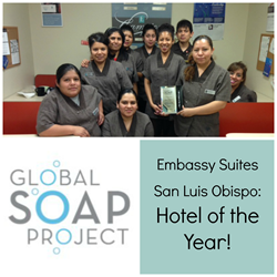 Embassy Suites San Luis Obispo and Global Soap Project