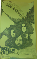 Original 1969-1972 Led Zeppelin Vintage Fillmore Era Concert Tour Posters