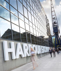 architectural signage at Harbour Exchange, London designed, manufactured and installed by Signbox Ltd