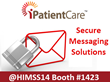 iPatientCare Showcasing Secure Messaging Solutions at HIMSS14