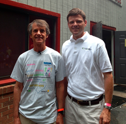 101 Mobility Greensboro owner, Jack Shoemaker with Muscular Dystrophy Camp Counselor Steve Sevcik