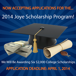 Now Accepting Applications for Joye Law Firm's 'Joye in the Community' College Scholarship Program