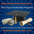 Joye Law Firm Announces 2014 College Scholarship Program