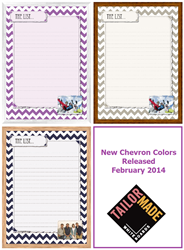 Image of Tailor Made Whiteboards' New Chevron Colors: Navy, Tan, Radiant Orchid
