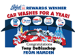 Splash Car Wash Awarded Its Winner of Splash Rewards With Unlimited...