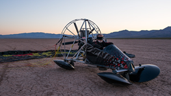 Andre Boyer will take the flying challenge by completing the flight of his ultra light aircraft blindfolded.