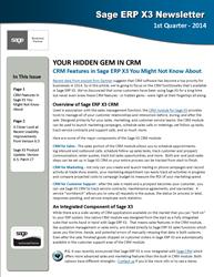 Sage X3 Newsletter