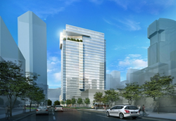 6 Houston Center will be located in the highly desirable east side of the central business district, across from 1 Houston Center/LyondellBasell Tower.