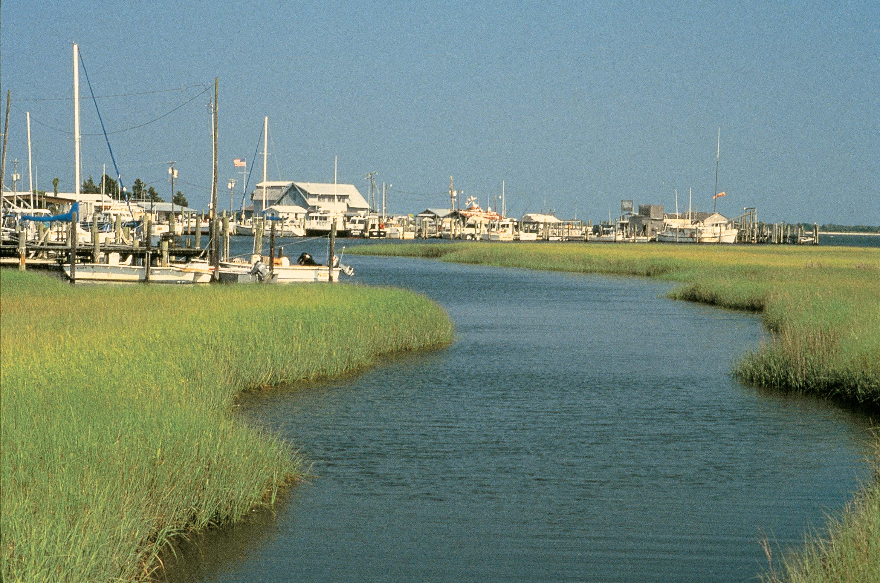 March madness vs marsh madness north carolinas brunswick kayakers and boaters can visit southport ncs yacht basin for delicious seafood diningsouthport nc via the waterways publicscrutiny Images