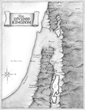 Map of the Divided Kingdom of Israel
