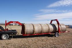 The 2EZ Gooseneck Hay Bale Handler Hay Trailer
