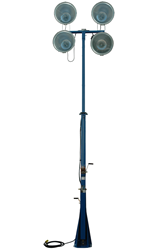 Four 1,000 Watt Metal Halide Lamps Mounted to an Adjustable Mast
